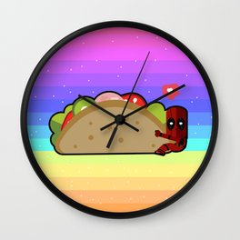 chimichanga arco iris Wall Clock