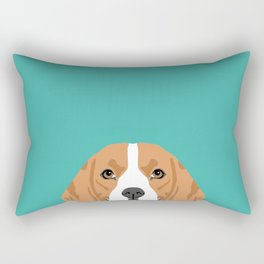 Beagle dog head cute pet portrait beagles lovers pure breed dog gifts Rectangular Pillow