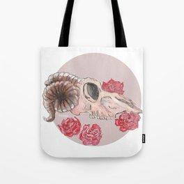 Sheep Skull WaterColor Tote Bag