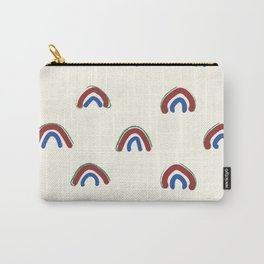 Hand Drawn Red Rainbows Carry-All Pouch
