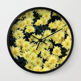 Flower Invasion 2 Wall Clock
