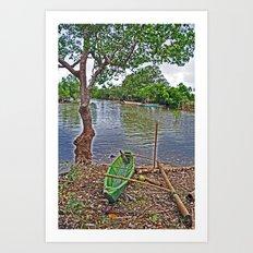 The fishing boat Art Print