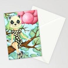 Panda Girl Stationery Cards