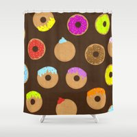 donuts Shower Curtains featuring Donuts by Reg Silva / Wedgienet.net