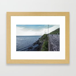 Along the sea in Ireland Framed Art Print