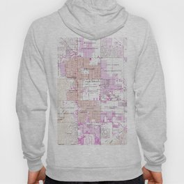 Vintage Map of Palm Springs California (1957) 2 Hoody