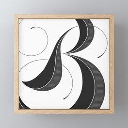 Letter B - Script Lettering Cropped Design Framed Mini Art Print