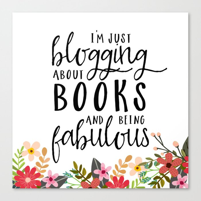 Blogging About Books Canvas Print