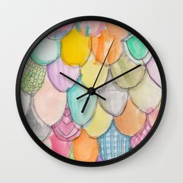 Doodle Scales Wall Clock