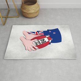 Rugby Ball New Zealand Rug