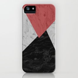 MARBLE TRIANGULES iPhone Case