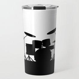 Rock Band Equipment Silhouette Travel Mug
