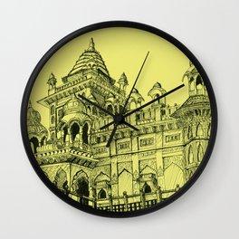 Rajasthan Palace Yellow Wall Clock