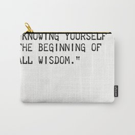 Aristotle quote wisdom Carry-All Pouch