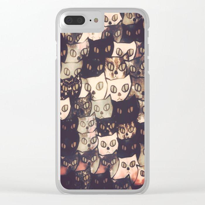 cat-286 Clear iPhone Case