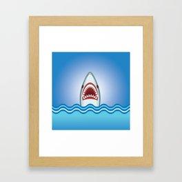 Cartoon Shark Framed Art Print