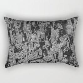 The Fantasy City. Urban Landscape Illustration. Rectangular Pillow