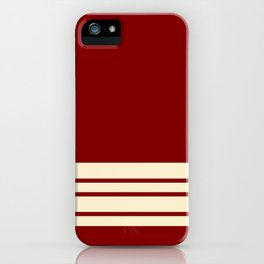 Maroon Stripes Wheat Wall iPhone Case