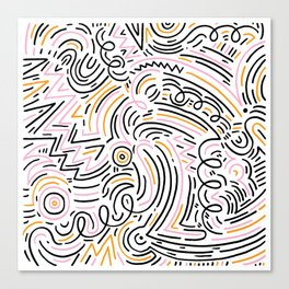 squiggle wiggles Canvas Print
