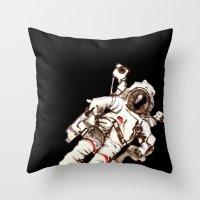 astronaut Throw Pillows featuring Astronaut by Kristin Frenzel
