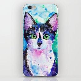 Black and White Tuxedo Cat iPhone Skin