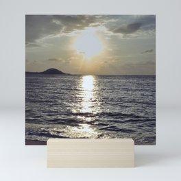 Island sunrise Mini Art Print