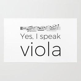 Yes, I speak viola (Glinka) Rug