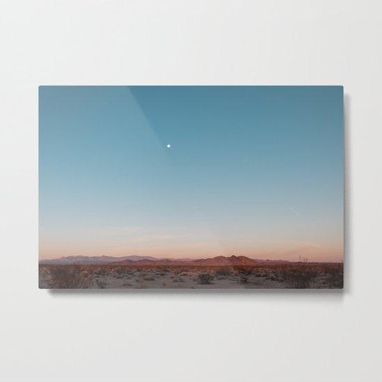 Desert Sky with Harvest Moon Metal Print