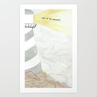 Light up the darkness. Art Print