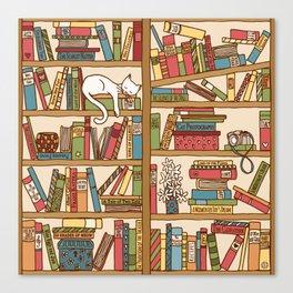 Bookshelf No. 1 Canvas Print