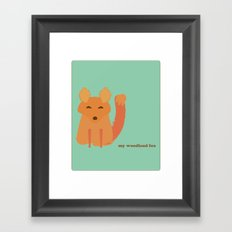 My woodland fox Framed Art Print