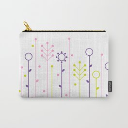Beautiful colorful flowers Vector Illustration Carry-All Pouch