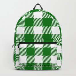 Buffalo Plaid - Green & White Backpack