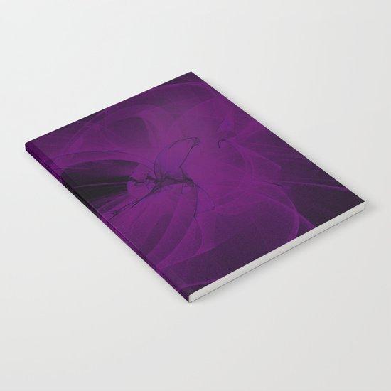Cosmic Fractal dark black and purple Notebook