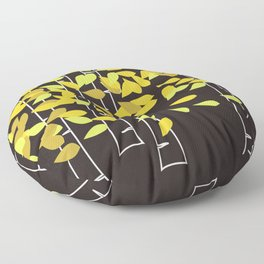 Autumn Birches Floor Pillow