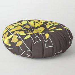 Autumn Birches Floor Pillow