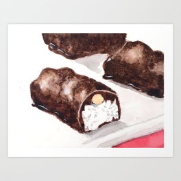 Almond Chocolate Bar Art Print