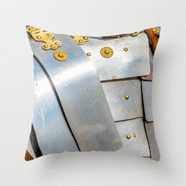 Details Of The Ancient Roman Military Plate Armor Throw Pillow