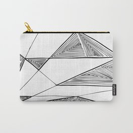 Triangles perspective geometric ink-pen drawing Carry-All Pouch