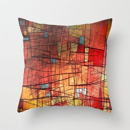 COLOR LINES Throw Pillow