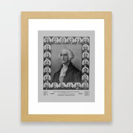Presidents of The United States 1789-1889 Framed Art Print