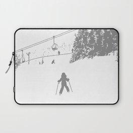 Little Skier - Grey Laptop Sleeve