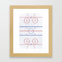 Hockey Rink Framed Art Print