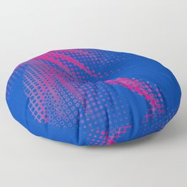 Bisexual Pride Pixellated Abstract Rays Floor Pillow
