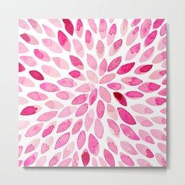 Watercolor brush strokes - pink Metal Print