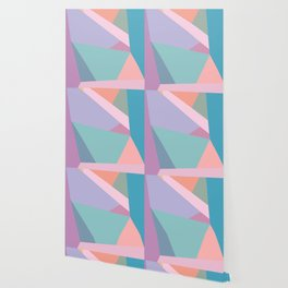 Fractured Triangles in Playful Color Wallpaper