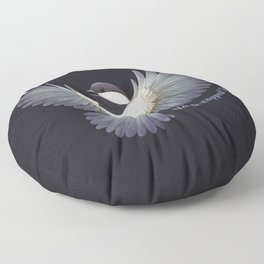 Black-capped Chickadee Floor Pillow