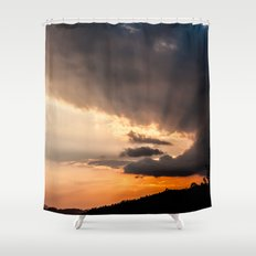 Sunset rays Shower Curtain