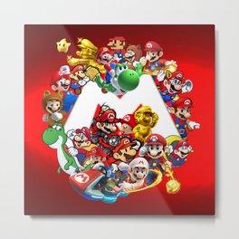 Mix Mario Bross Evolution Metal Print