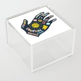 Positivity – Helping Hand Acrylic Box